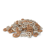 Pile of Yogurt Covered Pretzels with Pops PNG & PSD Images