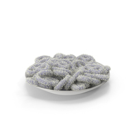 Plate with Yogurt Covered Pretzels with Coconut PNG & PSD Images