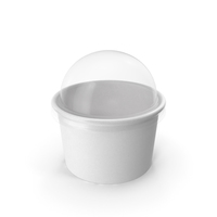 Paper Food Cup with Clear Lid for Dessert 6 Oz 150 ml PNG & PSD Images