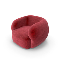 Red Greenkiss Coral Velvet Club Armchair PNG & PSD Images