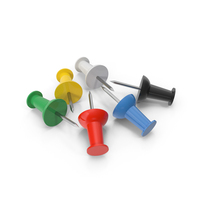 Multicolored Pins PNG & PSD Images
