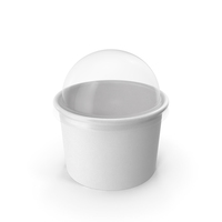 Paper Food Cup with Clear Lid for Dessert 8 Oz 200 ml PNG & PSD Images