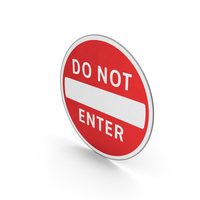 Road Sign Do Not Enter PNG & PSD Images
