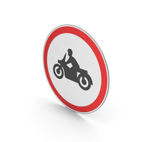 Road Sign No Motorcycles PNG & PSD Images