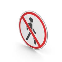 Road Sign No Pedestrians PNG & PSD Images