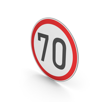 Road Sign Speed Limit 70 PNG & PSD Images