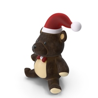 Christmas Teddy Bear Brown PNG & PSD Images