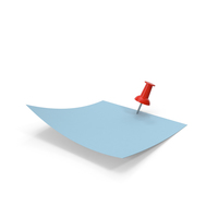 Blue Paper with Red Pin PNG & PSD Images