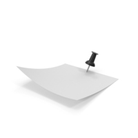 White Paper with Black Pin PNG & PSD Images