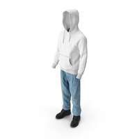 Men's Boots Jeans T-shirt Hoodie Black White PNG & PSD Images