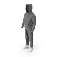 Men's Boots Jeans T-shirt Hoodie Grey White PNG & PSD Images