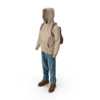 Men's Boots Jeans T-shirt Hoodie Hat Backpack Beige Brown PNG & PSD Images