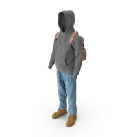 Men's Boots Jeans T-shirt Hoodie Hat Backpack PNG & PSD Images
