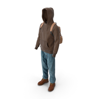 Mens Boots Jeans T-shirt Hoodie Hat Backpack Brown PNG & PSD Images