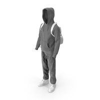 Men's Boots Jeans T-shirt Hoodie Hat Backpack Grey White PNG & PSD Images