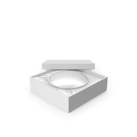 Pearl Necklace in a White Gift Box PNG & PSD Images