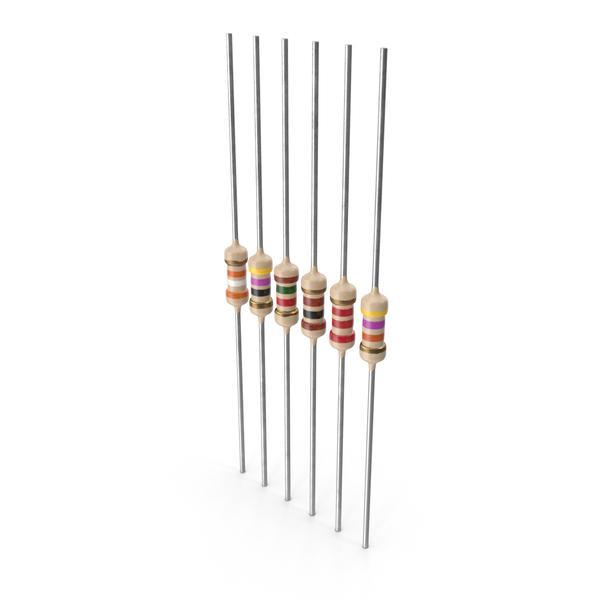 Axial Lead Metal Film Resistors Set PNG & PSD Images
