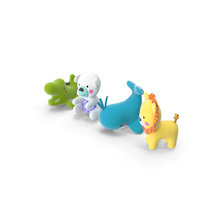 Baby Plastic Animal Toys PNG & PSD Images