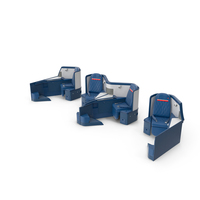 Delta Air Lines Airbus A330-300 Business Class Seats Set PNG & PSD Images