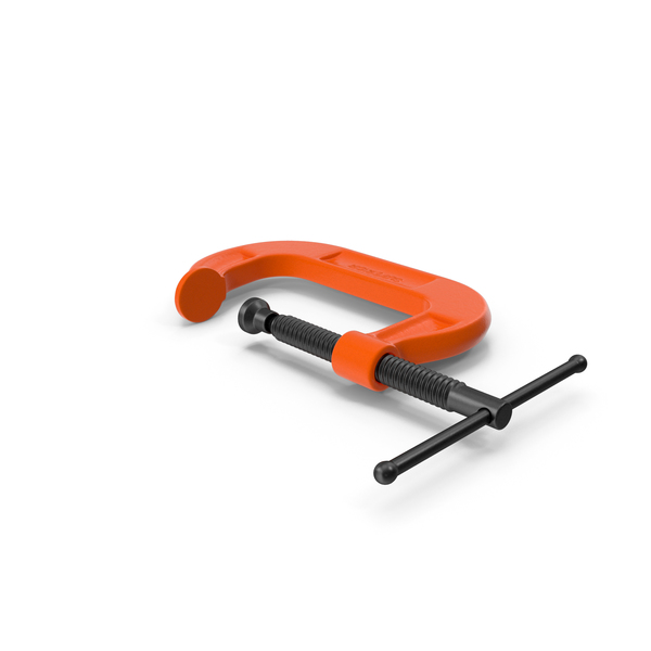 Forged Orange C-Clamp PNG & PSD Images