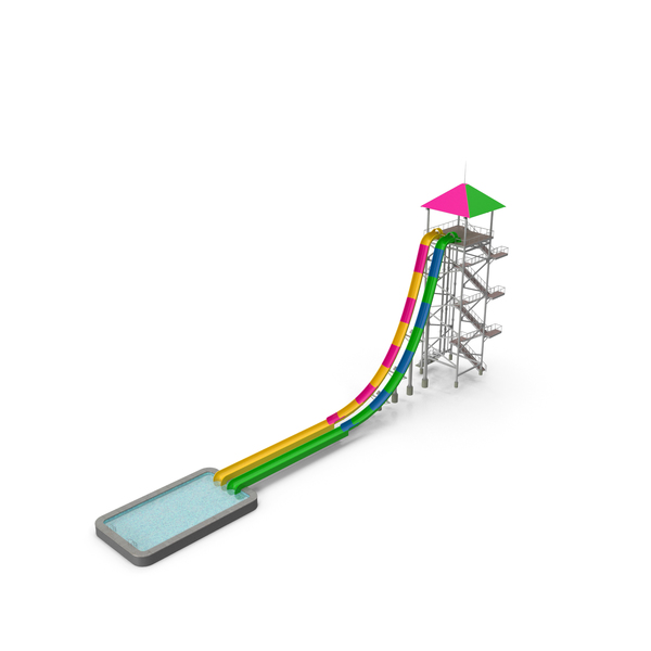 Freefall Water Slide PNG & PSD Images