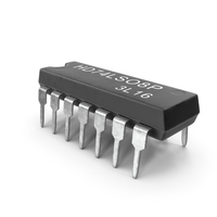 HD74LS08P Logic Gate Integrated Circuit PNG & PSD Images