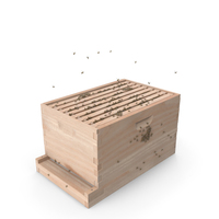 Brood Box Cedar 8 Frames PNG & PSD Images