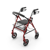 Drive Medical Four Wheel Rollator PNG & PSD Images