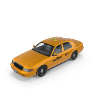 Ford Crown Victoria Yellow Taxi PNG & PSD Images