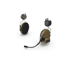 Headset for Tactical Helmet PNG & PSD Images