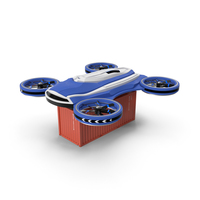 Heavy Duty Cargo Quadrocopter Drone PNG & PSD Images