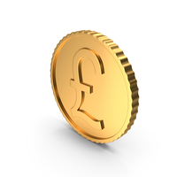 Gold Coin LB Funt PNG & PSD Images