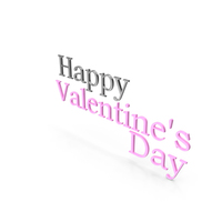 Happy Valentine's Day Symbol Silver and Pink PNG & PSD Images