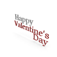 Happy Valentine's day Silver and Red PNG & PSD Images