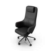 Office Chair Black Stylized PNG & PSD Images