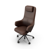 Office Chair Brown Stylized PNG & PSD Images