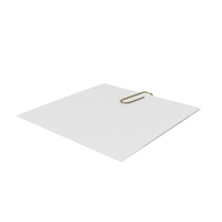 Gold Clip with Paper PNG & PSD Images
