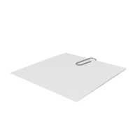 Silver Clip with Paper PNG & PSD Images