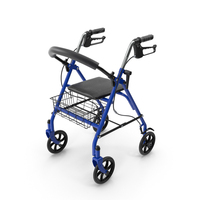 Medical Rolling Walker with Seat PNG & PSD Images