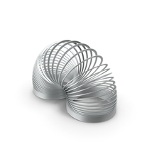 Metal Toy Spring Curved PNG & PSD Images