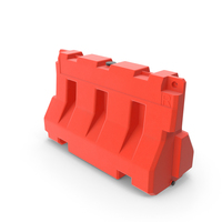 Plastic Jersey Barrier PNG & PSD Images