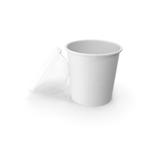 Paper Food Cup with Clear Lid for Dessert 16 Oz 450 ml Open PNG & PSD Images