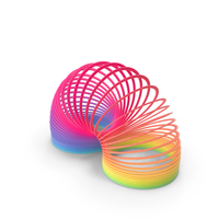 Rainbow Slinky Toy Spring Curved PNG & PSD Images