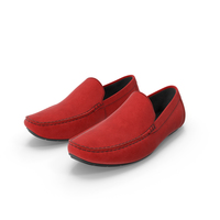 Red Suede Driving Shoe Moccasins PNG & PSD Images