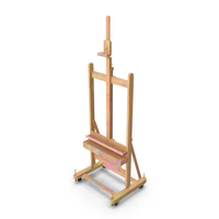 Studio Easel Stained with Paint PNG & PSD Images