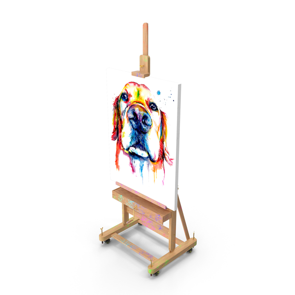 Studio Easel with Canvas PNG & PSD Images