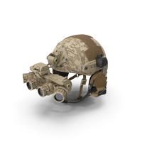 Tactical Helmet Digital Camo With Fur PNG & PSD Images