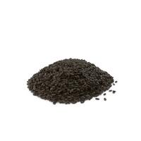 Pile of Black Sesame Seeds PNG & PSD Images
