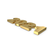 2021 Gold Symbol PNG & PSD Images
