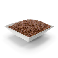 Square Bowl With Flax Seeds PNG & PSD Images